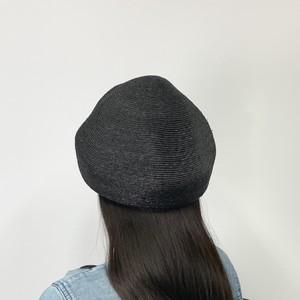 【Pole Pole】麦わら素材のベレー帽