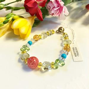 パーソナルカラー/ Spring~春カラー  花色ブレスレット