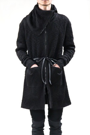 17AW Highneck Zipper Knit Coat