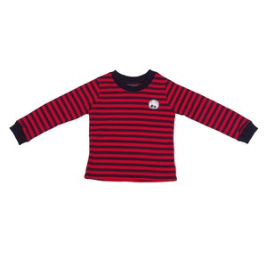 ROD FACE Patch Border 長袖Tシャツ(RED×NAVY)