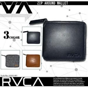 AJ042-981 ルーカ RVCA 財布 2つ折り メンズ 人気ブランド 入学 就職 プレゼント カジュアル レザー 20代 30代 40代 ZIP AROUND WALLET