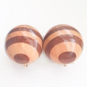wood design earring[e-860]