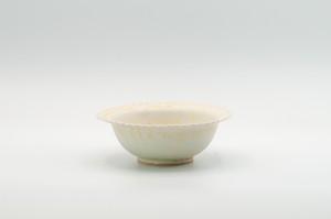 黄灰秞リムフリル小鉢