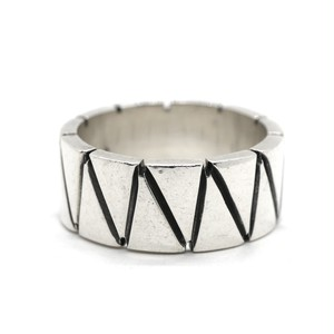 Vintage Sterling Silver Mexican Geometric Line Ring