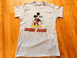 US ビンテージ Mickey ミッキー 両面 前後 後ろ姿 プリント Tシャツ 70s 80s OLD ディズニー