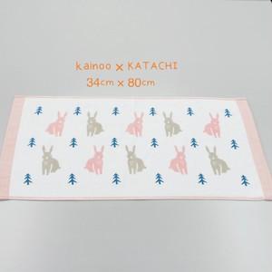 【送料無料】今治タオル KATACHI 新柄 うさぎ ガーゼフェイスタオル 34×80cm