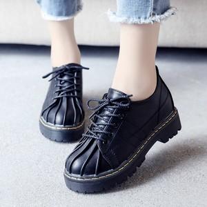 【flat shoes】2018 Korean small women autumn thick bottom flat shoes