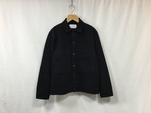 "CURLY"" MAZARINE TRUCKER JACKET BLACK INDIGO"""