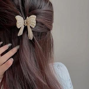 bijou ribbon hair clip