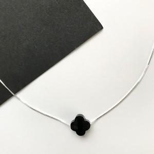 ブラックオニキス+ベネチアンチェーンネックレス Silver925