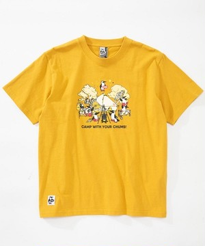 CHUMS チャムス CAMP WITH YOUR CHUMS TEE