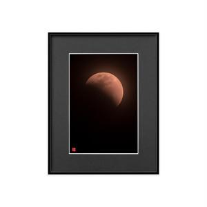 月食の月(ブラックボード)A4サイズ