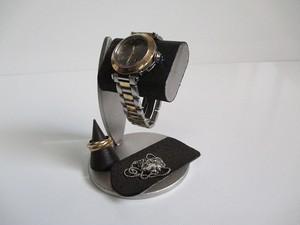 腕時計スタンド トレイ、指輪スタンド付き腕時計スタンドブラック 190803