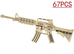 【送料無料】AK47 自動小銃 木製3Dパズル