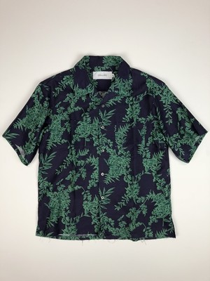 【JOHN MASON SMITH】OPEN COLLAR SHORT SLEEVE SHIRTS (BOTANICAL)