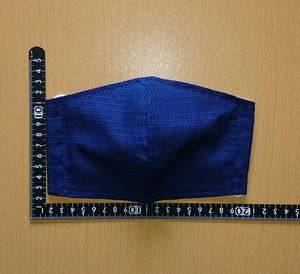 ◆小さめサイズ◆夏用絹紅梅本藍染マスク