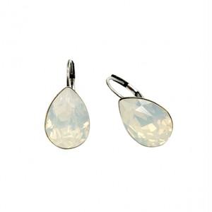 ピアス ドロップ ストーン ホワイト オパール KRiKOR ドイツ製 Pierce Drop Stone White Opal