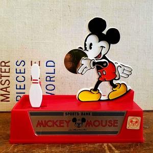 ヴィンテージなミッキーマウスのボウリング貯金箱