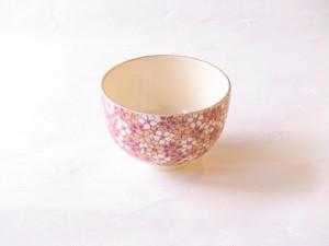 清水焼 恵雪 作 彩桜詰抹茶碗