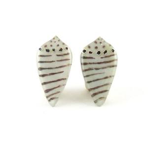 イモガイミニ(ストライプBrown) Pierced Earrings
