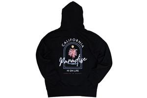 【Vivid graphic hoodie】 / black