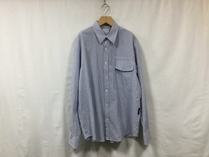 "在庫あり gourmet jeans "" IRREGULAR POCKET SHIRT ""BLUEサッカー"