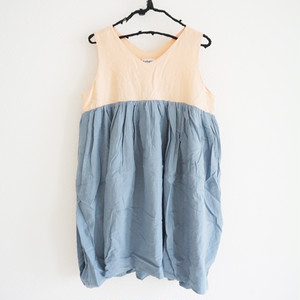 V-NECK DRESS DYED / LL