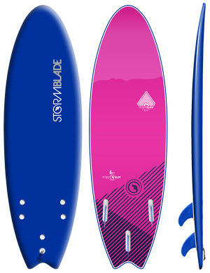Storm Blade 6ft Swallow Tail Surfboard / NAVY  PINK