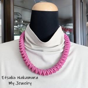 綿100%ロー引きロープ甘い大人可愛いマクラメ編みネック&チョーカー