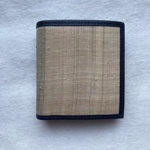 二つ折り財布(紺色)