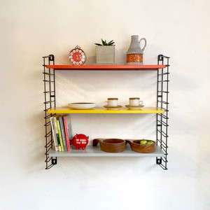 """TOMADO"" Metal Wall Shelving Design by A. D. Dekker 1960's オランダ"