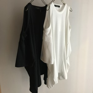 CaNARi original remake open shoulder big tee