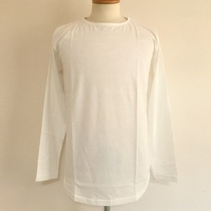 Long Length Crew Neck Cut & Sewn White