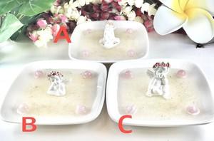 2/26新着★レムリアンシード粉を敷き詰めた天使の浄化皿★マダガスカルディープローズ付き