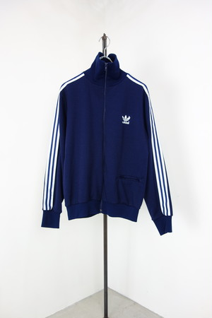 "80's "" adidas "" zip up jersey track jacket"