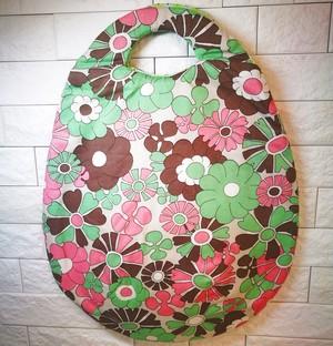 """たまごバッグ """"緑とピンクのお花"""""""
