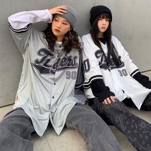 【トップス】野球服シンプル韓国系ストリート系プリント図柄半袖パーカー45439355