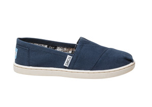 Canvas Youth TOMS Classics  ( Navy ) トムス キッズ