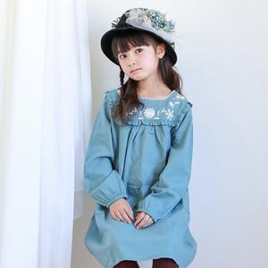 人気!【即納】2色襟刺繍ワンピース