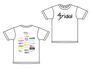 47idol online 公式Tシャツ【白・ロゴ大×参加アイドルロゴ】