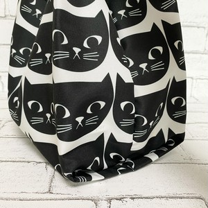 黒猫エコバッグ【小さめコンビニサイズ】