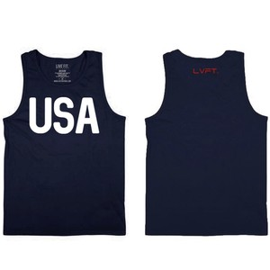 LIVE  FIT Victory Mens Tank - Dark Navy