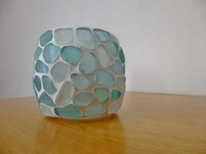 シーグラスのマルチホルダー(ガラス器)