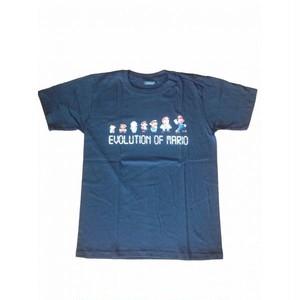 Evolution of Mario マリオの進化 プリントTシャツ