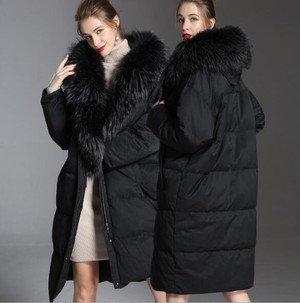 Volume fur down coat