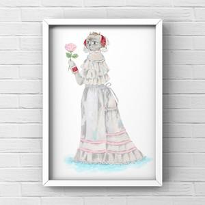 原画『純白ねこのドレス』