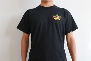 バッドアスオリジナルTシャツ/ブラック・ハワイアンTシャツ