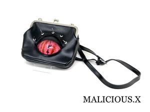 reptelis(C) eye shoulder metal clasp bag / pink