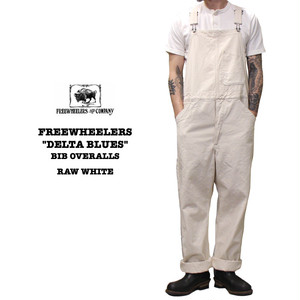 """DELTA BLUES"" BIB OVERALLS RAW WHITE FREEWHEELERS/フリーホイーラーズ UNION SPECIAL OVERALLS Lot 2022007"
