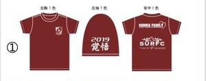 チームTシャツ 2019 エンジ